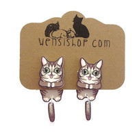 Lil Bub Inspired Cling Earrings