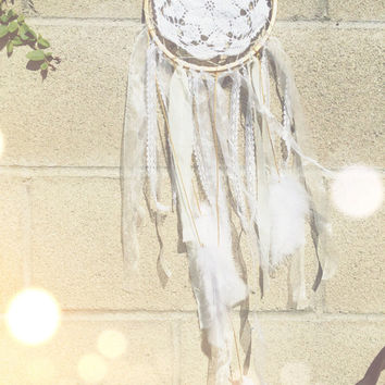 Off White & Purple Dream Catcher