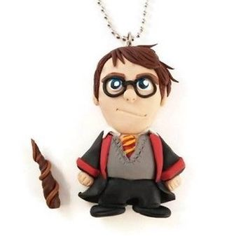 Harry Potter Necklace, Handmade, Polymer Clay