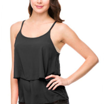 Chic Chiffon Top in Black