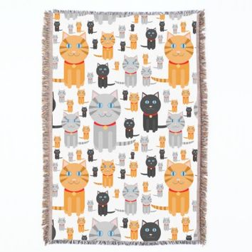 Fun Cute Collage of Orange, Gray, and Black Cats
