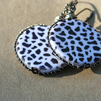 Dalmatian Print Earrings