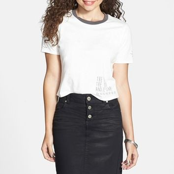 1822 Denim Coated Pencil Skirt (Juniors)