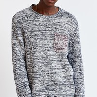 CPO Marled Contrast Pocket Crew-Neck Sweater - Urban Outfitters
