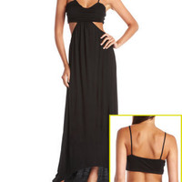 Open Back Knit Maxi Dress