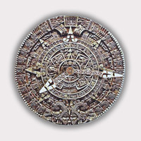 Maya Calendar Stone Wall Clock