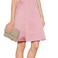 THE LOOK | Designer look with 'Satin Strapless Dress' from Jil Sander Navy | Luxury fashion online | STYLEBOP.com