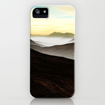Foggy Mountains iPhone & iPod Case by Texnotropio