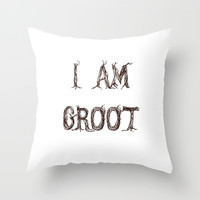 I AM GROOT Throw Pillow by fyyff | Society6