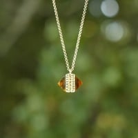 Times Gone By Necklace-Amber