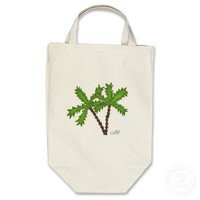 Palm trees 1 canvas bag from Zazzle.com