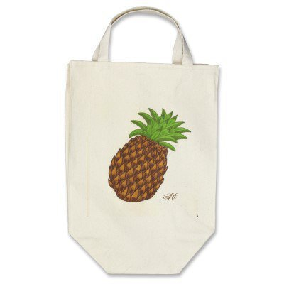pineapple tote bags from Zazzle.com