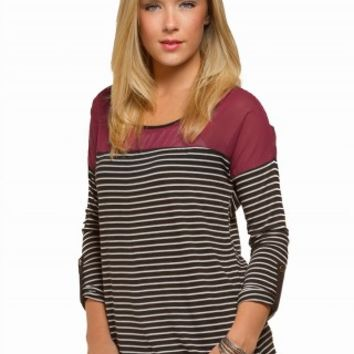 COLORBLOCK STRIPED TOP