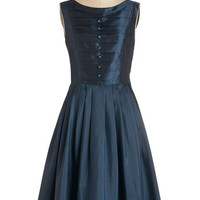 ModCloth Long Sleeveless Fit & Flare Your Biggest Fanfare Dress