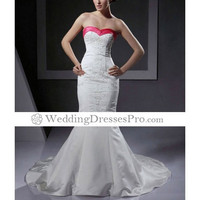 Trumpet/ Mermaid Sweetheart Court Train Satin Wedding Dress with Beaded Embroidery (TTM022) [TTM022] - $154.99 : wedding fashion, wedding dress, bridal dresses, wedding shoes
