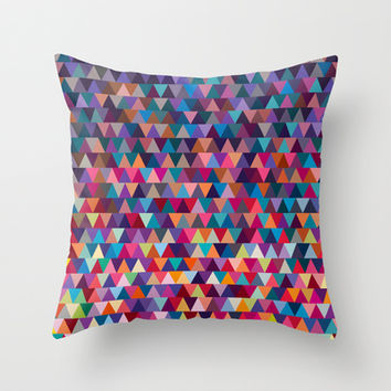 Triangles Throw Pillow by Ornaart