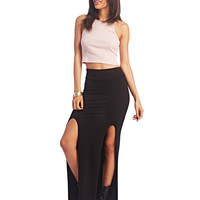 Super Soft High-Slit Maxi Skirt | Wet Seal