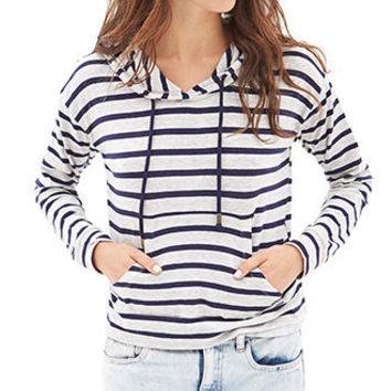 Hooded Striped Pullover