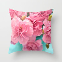 Pink Darlings Throw Pillow by Lisa Argyropoulos | Society6