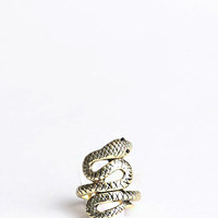 Golden Serpente Ring - ThreadSence.com