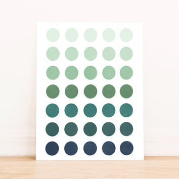 Printable Art Abstract Ombre Navy to Green Geometric Poster Office Art Nursery Art Apartment Art Decor Dorm Art Bathroom Art