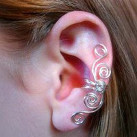 Silver Plated Multi Swirl Ear Cuff,.. on Luulla