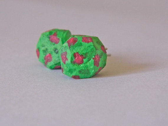 Rose Bush Geo Earrings