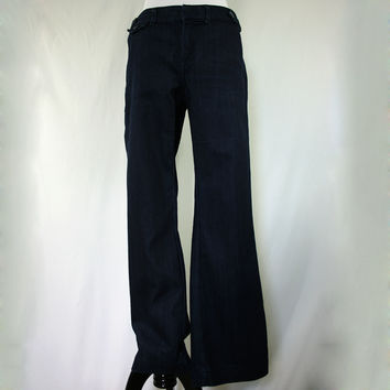 Dark wash boot cut petite trouser jeans