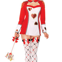 Playing Cards Girl Costumes lzq, red white S M, very cheap sexy lingerie, cheap sexy costume, cheap halloween costume - Circus Costumes HotSaleWear.Com