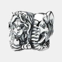 PANDORA 'Safari' Lion & Elephant Bead Charm