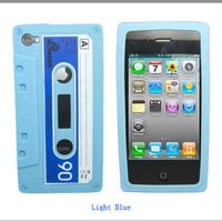 Light Blue Cassette  unqiue Apple iPod Touch 4g 4 by DirectCenter