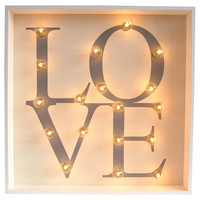 "Marquee Light-Up ""Love"" Sign, Signs"