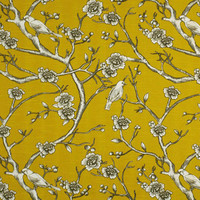 DwellStudio Fabric Vintage Blossom Citrine