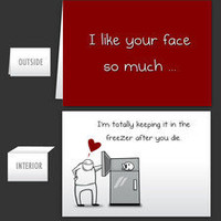 I like your face so much - Greeting Card - The Oatmeal