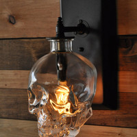 Skull Wall Sconce - Crystal Head Vodka