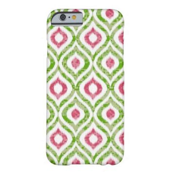 Green Ikat Tribal pattern iPhone 6