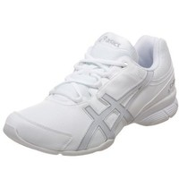 ASICS Women`s GEL-Comp Cheerleading Shoe,White/Pearl/Silver,8.5 B US
