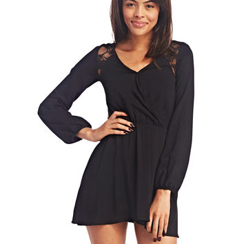 Lacey Back Surplice Dress | Wet Seal