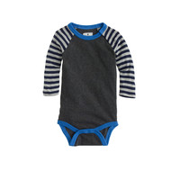 crewcuts Baby Long-Sleeve Baseball One-Piece In Stripe