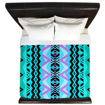 Tribal King Duvet Cover - Mix #527 - Ornaart Design