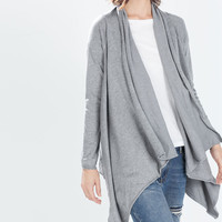 Jacket with pointed front