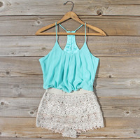 Kindred Spirits Romper in Mint