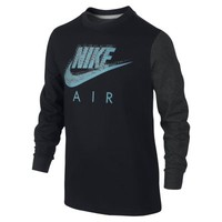 Nike Run Heritage Futura Long-Sleeve Boys' T-Shirt - Black