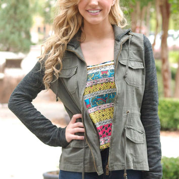Jolly Green Jacket in Olive | 7 Chics