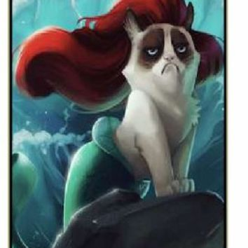 iPhone 5C Grumpy cat as a mermaid - black plastic case / Keep Calm, Motivation and Inspiration