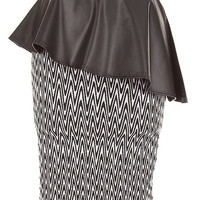 Fanned Leather Skirt | Women's Peplum Skirts | RicketyRack.com