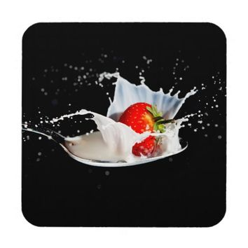 Strawberries and Cream Coasters