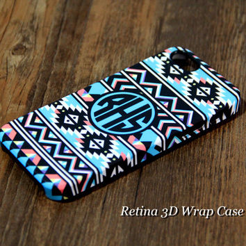 Retro Ethinc Custom Monogram 3D-Wrap iPhone 5S 5 5C 4S 4 Case | Ac.y.c