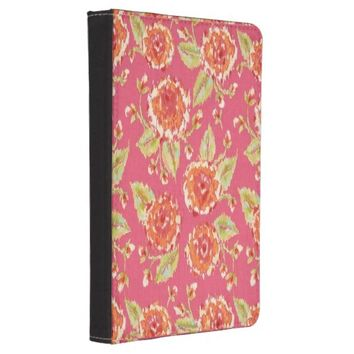 Pink Floral pattern Kindle Touch Case