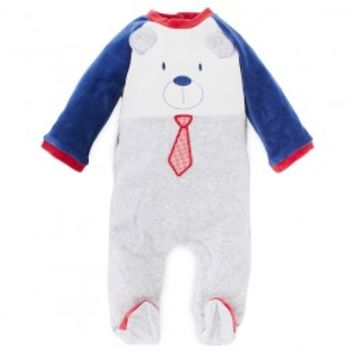 Babygrow with Red and Navy Teddy